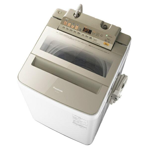 【送料無料】PANASONIC NA-FA80H5-N シャンパン [簡易乾燥機能付洗濯機 (8kg)]