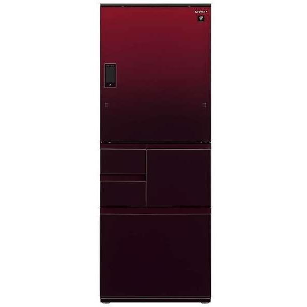 【送料無料】【標準設置無料】5ドア冷蔵庫 シャープ(SHARP) プラズマクラスター SJ-WX50D-R グラデーションレッド WXシリーズ 502L 左右フリー ラクラクオープン 閉め忘れ防止オートクローズ 電動どっちもドア 【代引き・後払い決済不可】【離島配送不可】