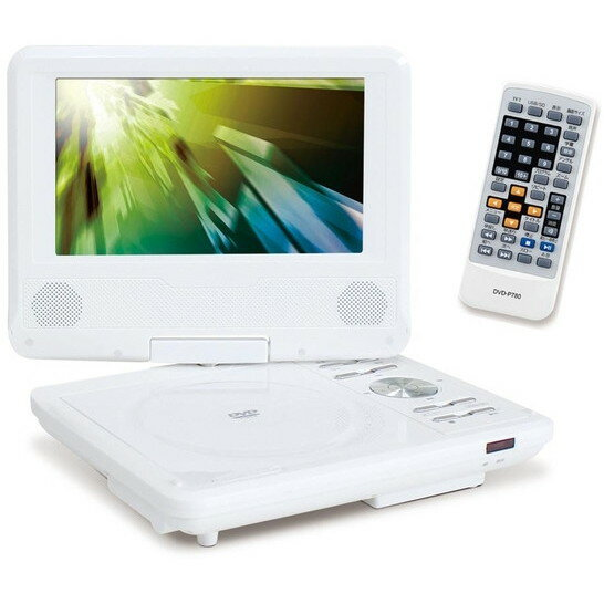【送料無料】アズマ DVD-P780 [7型ポータブルDVDプレーヤー(乾電池対応)] ポータブルdvdプレーヤー ポータブルdvdプレイヤー dvdプレーヤー ポータブルdvd 白 ホワイト