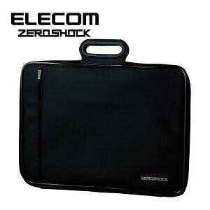 エレコム 衝撃吸収 パソコン インナーバッグ 2台持ち 撥水 折りたたみ取っ手付き 収納サイズ(13.5/14/15/15.4/15.6インチPC MacBook対応 12.5インチタブレット) ZEROSHOCK(ゼロショック)シリーズ ZSB-IBNH15BK