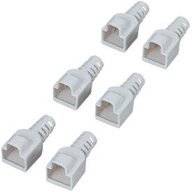 ELECOM コネクタ保護カバー先付けタイプ/6個(ベージュ) LD-EBBE6