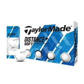 テーラーメイド ディスタンス プラス ソフト ゴルフボール 1ダース(12個入り) ホワイト 【日本正規品】