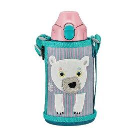 水筒 0.6L タイガー 子ども コロボックル シロクマ ステンレスボトル 保温 保冷 コップ 直飲み TIGER MBR-C06G-PS サハラ かわいい ポーチ付き