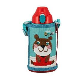 水筒 0.6L タイガー 子ども コロボックル アニー ステンレスボトル 保温 保冷 コップ 直飲み TIGER MBR-C06G-GA サハラ かわいい ポーチ付き