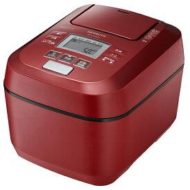 日立 RZ-V100DM(R) メタリックレッド 沸騰鉄釜 ふっくら御膳 [圧力スチームIH炊飯器(5.5合炊き)]