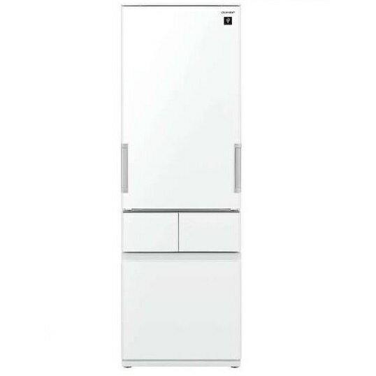 【送料無料】冷蔵庫 シャープ(SHARP) プラズマクラスター SJ-GT42D-W ピュアホワイト (415L・左右フリー) どっちもドア メガフリーザー 段々スパイスラック 調味料類をスッキリ整理できて取り出しやすい