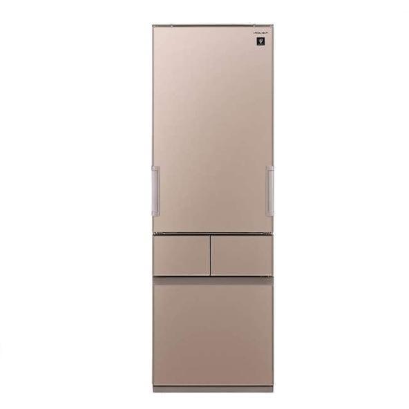 【送料無料】冷蔵庫 シャープ(SHARP) プラズマクラスター SJ-GT42D-T メタリックブラウン (415L・左右フリー) どっちもドア メガフリーザー 段々スパイスラック 調味料類をスッキリ整理できて取り出しやすい
