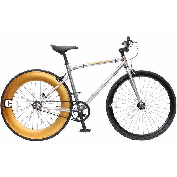 【送料無料】TOP ONE C100-460-SV シルバー CREATE [クロスバイク(700×25C・フレーム460mm)]【同梱配送不可】【代引き不可】【沖縄・離島配送不可】