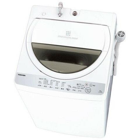 【送料無料】東芝 AW-6G6 グランホワイト [全自動洗濯機 (洗濯6.0kg)] 浸透パワフル洗浄 部屋干しモード からみまセンサー