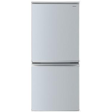 【送料無料】2ドア冷蔵庫 シャープ(SHARP) SJ-D14D-S シルバー系 137L 左右フリー つけかえどっちもドア 庫内が明るくて見やすいLED庫内灯 電子レンジを載せて使える 耐熱100度のトップテーブル 高さ1125mm