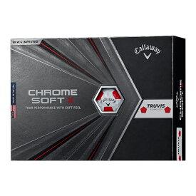 キャロウェイ(Callaway) クロムソフト X 2020年モデル 日本仕様 1ダース(12個入) トゥルービス(ホワイト/レッド) 【日本正規品】
