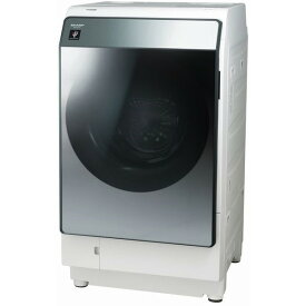 SHARP シャープ ドラム式洗濯乾燥機(洗濯11kg/乾燥6kg) 左開き シルバー系 プラズマクラスター 洗濯機 除菌 省エネ 低騒音 AI 乾燥フィルター自動お掃除 液体洗剤自動投入 マイクロ高圧洗浄 ES-W113-SL ESW113SL レビューCP500