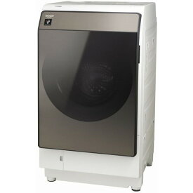 SHARP シャープ ドラム式洗濯乾燥機(洗濯11kg/乾燥6kg) 左開き ブラウン系 プラズマクラスター 洗濯機 除菌 省エネ 低騒音 AI 液体洗剤自動投入 マイクロ高圧洗浄 ES-WS13-TL ESWS13TL