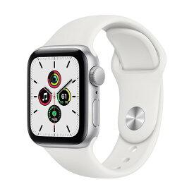 APPLE MYDM2J/A ホワイトスポーツバンド SE GPSモデル 40mm [Apple Watch]