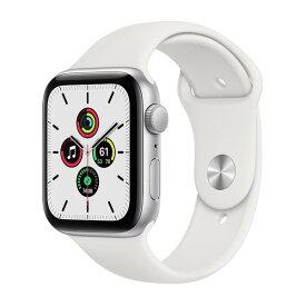 APPLE MYDQ2J/A ホワイトスポーツバンド SE GPSモデル 44m [Apple Watch]
