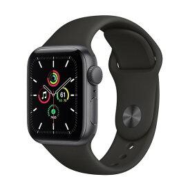 APPLE MYDP2J/A ブラックスポーツバンド SE GPSモデル 40mm [Apple Watch]