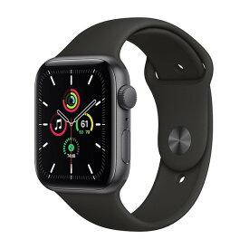APPLE MYDT2J/A ブラックスポーツバン SE GPSモデル 44m [Apple Watch]