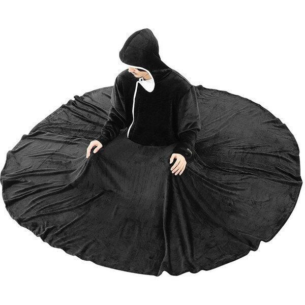 【送料無料】BIBILAB HFK-L-BK ブラック [セルフこたつ着る毛布(サイズL)]