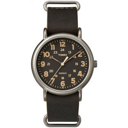 【送料無料】TIMEX(タイメックス) TW2P85800 ダークブラウン×ブラック ウィークエンダーレザー40 [クォーツ腕時計 (メンズウオッチ)]