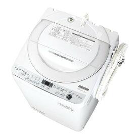 SHARP シャープ 簡易乾燥機能付洗濯機 (7.0kg) ホワイト系 縦型 全自動 穴無し槽 7kg 7キロ 抗菌 防カビ 節水 ES-GE7E-W ESGE7EW レビューCP500