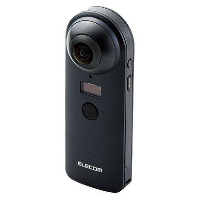 【送料無料】ELECOM OCAM-VRW01BK ブラック [360度カメラ 4K スタンドアローンタイプ オムニショット]