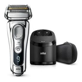 BRAUN(ブラウン) 9394cc-v シルバー シリーズ9 [メンズシェーバー(往復式・4枚刃・充電式) アルコール洗浄機付き] 電気シェーバー 髭剃り 除菌 肌にやさしい 深剃り 防水 付属 一度で剃り切る ギフト プレゼント