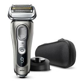 BRAUN(ブラウン) 9345s-v グレー シリーズ9 [メンズシェーバー(往復式・4枚刃・充電式)] 電気シェーバー 髭剃り 除菌 肌にやさしい 深剃り 防水 お風呂剃り 付属品 ケース 一度で剃り切る ギフト プレゼント 清潔