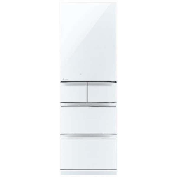 【送料無料】三菱 MITSUBISHI MR-B46C-W クリスタルホワイト 置けるスマート大容量 スリム 幅60cm Bシリーズ [冷蔵庫 (455L・右開き)] 片開き 薄型断熱構造「SMART CUBE」搭載 MRB46CW
