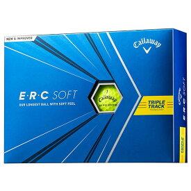 キャロウェイ ERC SOFT ゴルフボール 2021年モデル トリプルトラック イエロー 1ダース(12個入) 【日本正規品】