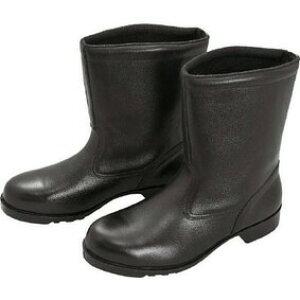 ミドリ安全 V2400N-24.5 ブラック [ゴム底安全靴 (半長靴・24.5cm)]