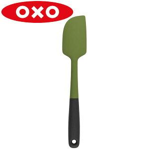 OXO(オクソー) シリコンスパチュラ M グリーン 11135105 フライ 返し へら スパチュラ シリコン 耐熱 食洗機 ソース ジャム 生クリーム お菓子 ケーキ 食器洗い機 対応  緑