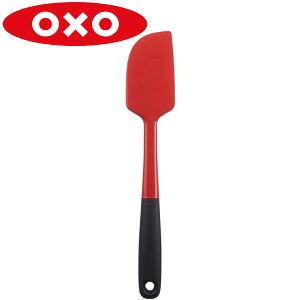 OXO(オクソー)シリコンスパチュラ M レッド 11135202フライ 返し へら スパチュラ シリコン 耐熱 食洗機 ソース ジャム 生クリーム お菓子 ケーキ 食器洗い機 対応  赤