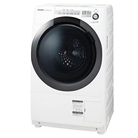 洗濯乾燥機 シャープ(SHARP) ES-S7C-WL ホワイト系 ななめ型ドラム式(洗濯7kg/乾燥3.5kg)左開き 一般的な防水パンに置けるコンパクトドラム 静かで省エネ インバーター制御 4種類のセンサーでムダのない節水お洗濯 【代引き・後払い決済不可】【離島配送不可】