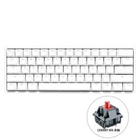 【正規代理店】 Ducky ダッキー ゲーミングキーボード dk-one2-rgb-mini-pw-red-rat ホワイト One 2 Mini RGB Pure White Cherry Red /Rat PC用キーボード [ゲーミングキーボード(英語配列/赤軸)/USB接続/有線]
