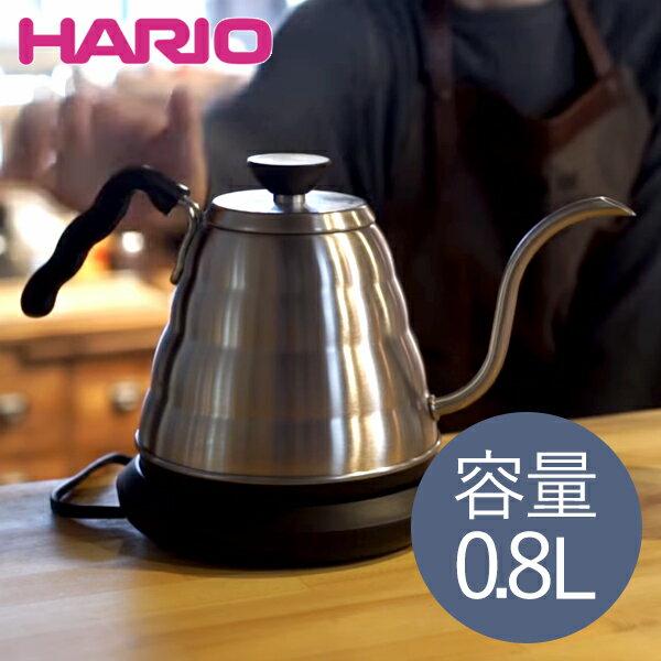 【送料無料】HARIO EVKT-80HSV V60 ヴォーノ [電気ケトル (0.8L)] ハリオ パワーケトル 温度調整 コーヒー 紅茶 空焚き防止 オートパワーオフ ステンレス Buono