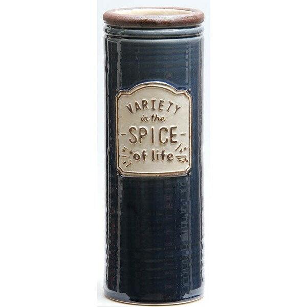 不二貿易 14255 陶製傘立て スパイス ネイビー