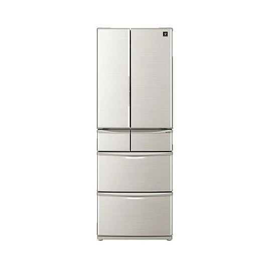 【送料無料】SHARP SJ-F462D シルバー系 [プラズマクラスター冷蔵庫(455L・フレンチドア 「センターピラーレス」フレンチドア 新鮮冷凍・おいそぎ冷凍]