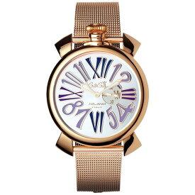 GAGA milano(ガガミラノ) 5081.3 MANUALE SLIM 46MM GOLD PLATE [クォーツ腕時計(ユニセックス)] 【並行輸入品】