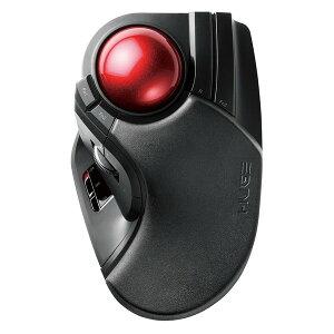 エレコム トラックボールマウス 8ボタン 人差し指 中指 LLサイズ チルトホイール 大玉 リストレスト 2.4GHz 無線 高耐久スイッチ 半年保証 ブラック(黒) M-HT1DRXBKリモートワーク 在宅 テレワーク