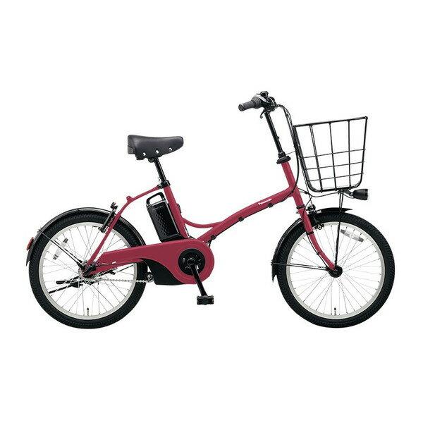 【送料無料】PANASONIC BE-ELGL033-R2 マットルージュ グリッター [電動自転車(20インチ・内装3段変速)]【同梱配送不可】【代引き不可】【本州以外配送不可】