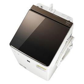洗濯機 シャープ SHARP ES-PT10C 白 ホワイト ブラウン おしゃれ 洗濯10kg 乾燥5kg 光るタッチナビ