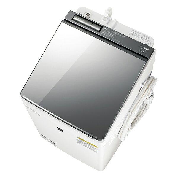 【送料無料】【2018年7月19日発売】 シャープ sharp SHARP プラズマクラスター 洗濯乾燥機 (洗濯11kg/乾燥6kg)] ES-PU11C シルバー 【代引き・後払い決済不可】【離島配送不可】