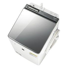 【送料無料】洗濯機 シャープ SHARP ES-PU11C 白 ホワイト シルバー おしゃれ スタイリッシュ 洗濯11kg 乾燥6kg 超音波ウォッシャー付属