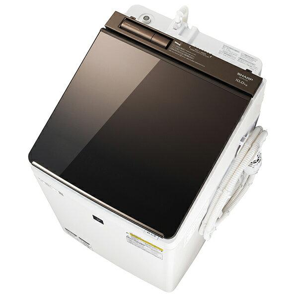 【送料無料】【2018年7月19日発売】 シャープ sharp SHARP プラズマクラスター 洗濯機 洗濯乾燥機 (洗濯10kg/乾燥5kg) ES-PU10C-T ブラウン系