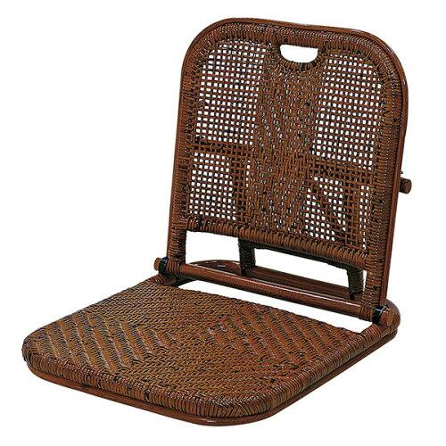 サンフラワーラタン籐折りたたみ座椅子C08HR【同梱配送不可】【代引き不可】【沖縄・北海道・離島配送不可】