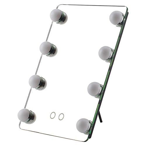 【送料無料】卓上ミラー ライト付き おしゃれ センター商事 KW052 アクトレスミラー LED電球