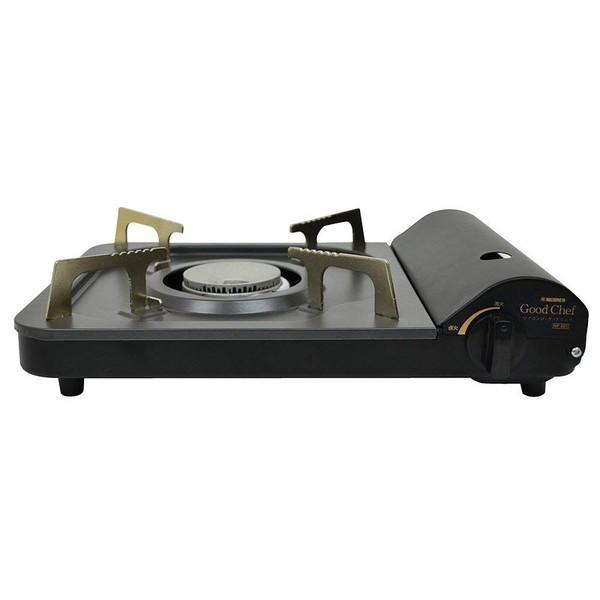 ベストコ カセットコンロ NP-001 マイコンロ グッドシェフ ブラック 薄型カセットコンロ 34cm スリム ミニ マイボンベ フラット マグネット ニチネン 扱いやすい お手軽 簡単
