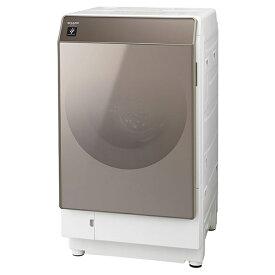 洗濯機 シャープ SHARP ES-G111-NL ドラム式洗濯乾燥機 洗濯11kg 乾燥6kg 白 ホワイト ゴールド ガラスドア おしゃれ 左開き
