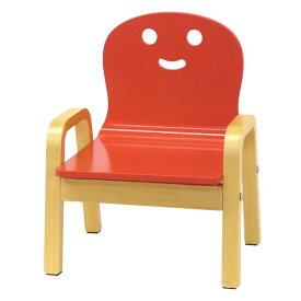 キコリの小イス レッド 木製 ミニチェア 子供用 椅子