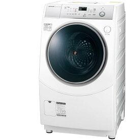 洗濯機 シャープ SHARP ES-H10C-WL 白 ホワイト ドラム式洗濯乾燥機 高圧洗浄 黄ばみ 頑固汚れ プラズマクラスター 静か ホームクリーニング